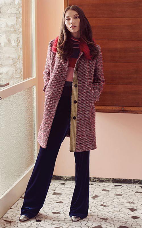 Abrigo channel rojo Mujer Luckylu