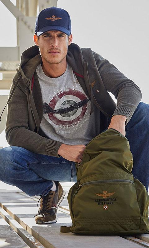 Jucla-Camiseta-manga-larga-gris-AeronauticaMilitare