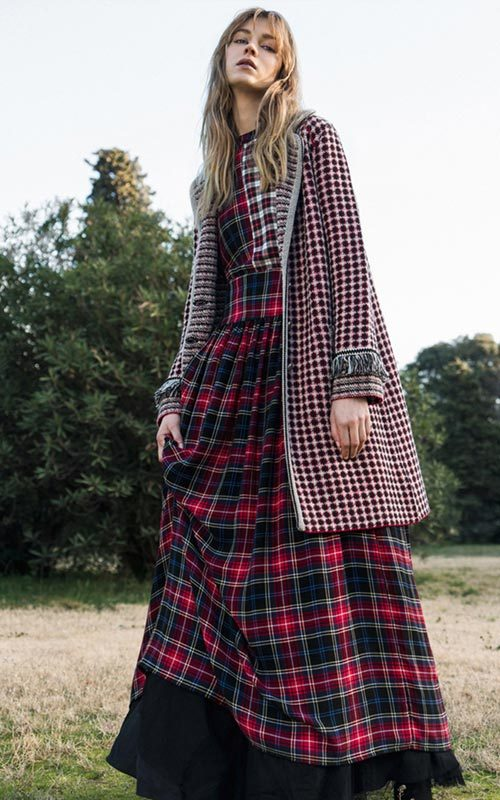 Abrigo lana puntos negros mujer Aldomartins