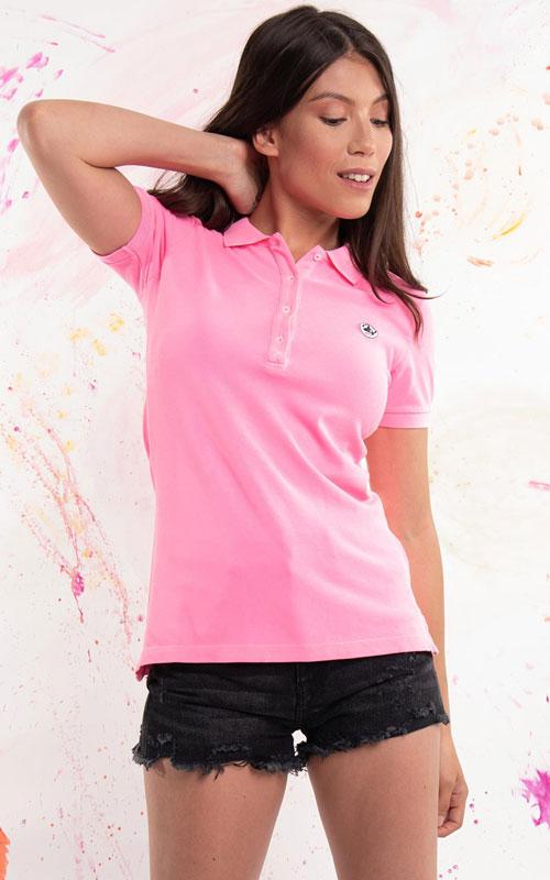 Polo manga corta rosa de JOTT lleida