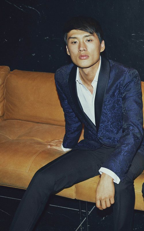 Smoking de seda azul SAND lleida