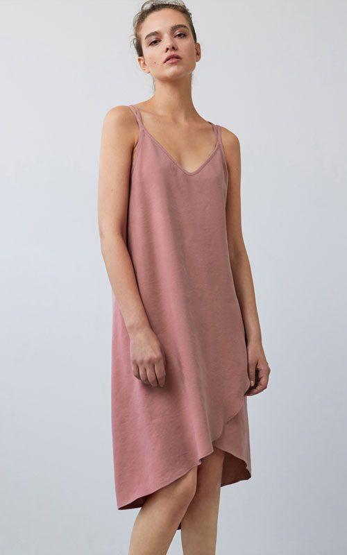 Vestido de tirantes rosa Amspure