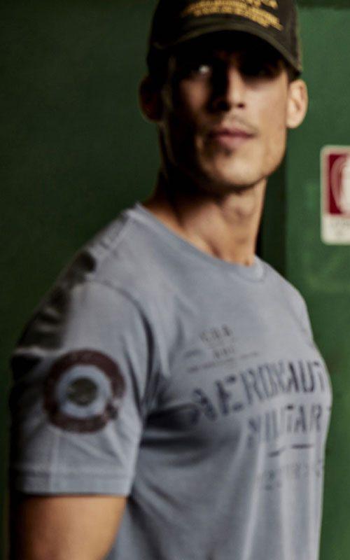 camiseta de color gris Aeronautica Militare Lleida