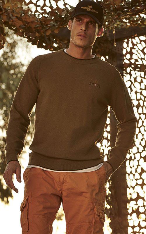 Gorra negra jersey de algodón marrón