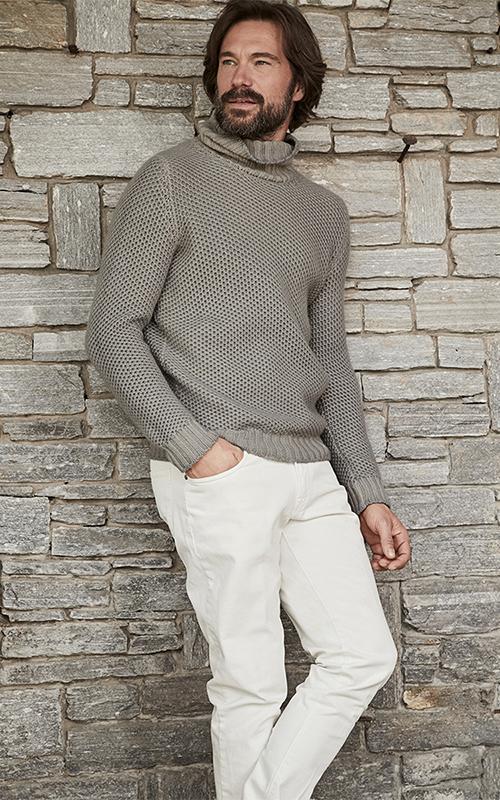 Juclà Jersey lana cuello alto gris claro